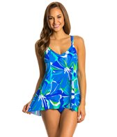 Penbrooke Garden of Oz Princess Seam Double Strap Swimdress