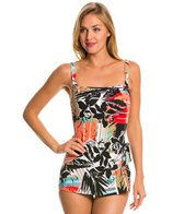 Penbrooke Pattern Sense Bandeau Sarong One Piece Swimsuit