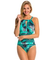 Penbrooke Dot Petals High Neck One Piece Swimsuit
