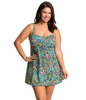 Penbrooke Plus Size Gypsy Empire Swimdress