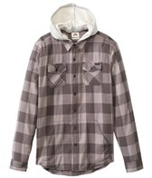 Rusty Men's Ironbark Hooded L/S Shirt