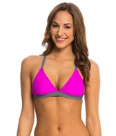 Next Good Karma Solid Barre Racerback Sports Bra Bikini Top