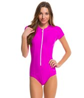 Next Good Karma Solid Malibu S/S One Piece Swimsuit