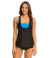 Next Good Karma Solid Multi Task Tankini w/ Sports Bra Bikini Top