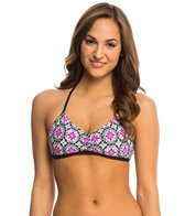 Next Weekend Warrior Plank Reversible Bra Bikini Top