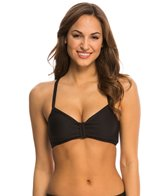 Next Good Karma Solid In Training 2 Racerback D-Cup Sports Bra Bikini Top