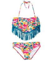 Roxy Girls' Boho Island Fringe Bandana Two Piece Set (7yrs-16yrs)