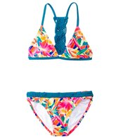 Roxy Girls' Boho Island Tri Two Piece Set (7yrs-16yrs)