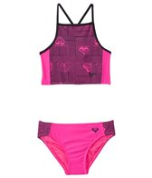 Roxy Girls' Retro Sport Cropped Tank Two Piece Set (7yrs-16yrs)