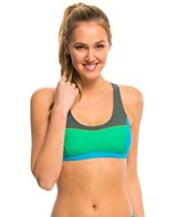 Prana Women's Colorblock Isma Sports Bra Bikini Top