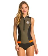 Rip Curl Women's 1mm G-Bomb Chest Zip Cap Sleeve Springsuit Wetsuit