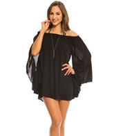 Indah Need Want Love Kamani Solid Angel Wing Cover Up Tunic