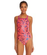The Finals Funnies Happy Hibiscus Foil Wing Back One Piece Swimsuit