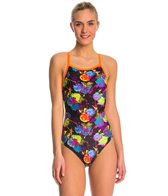 The Finals Funnies Rose Bud Non Foil Wing Back One Piece Swimsuit