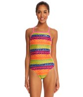 The Finals Funnies Flower Power Wing Back One Piece Swimsuit