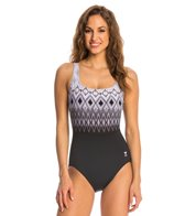 TYR Baltic Stripe Aqua Controlfit One Piece Swimsuit