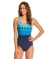 TYR Baltic Stripe Aqua Controlfit One Piece Swimsuit