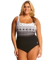 TYR Baltic Stripe Aqua Controlfit Plus Size One Piece Swimsuit