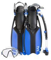 TYR Voyager Mask, Snorkel and Fin Set