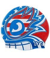 TYR USA The Masked Liberator Swim Cap
