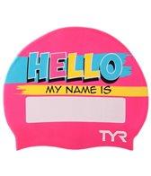 TYR Junior Hello My Name Is Swim Cap