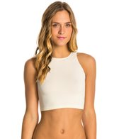 Free People Seamless High Neck Yoga Crop Top