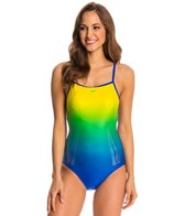 Speedo Color Fusion Thin Strap One Piece Swimsuit