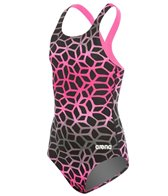 Arena Girl's Polycarbonite II Swim Light Back One Piece Swimsuit