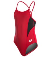 Arena Girl's Banner Light Drop Back One Piece Swimsuit