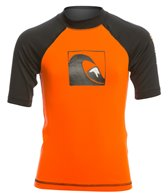 Quiksilver Kid's Main Peak Short Sleeve Rash Guard