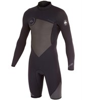 Quiksilver Men's 2/2mm Back Zip Long Sleeve Springsuit Wetsuit Wetsuit