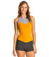 Roxy Women's 2mm XY Racer Back Zip Springsuit Wetsuit Wetsuit