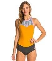 Roxy Women's 1mm Bikini Racer Back Zip Springsuit Wetsuit Wetsuit