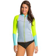 Roxy Women's 2mm XY Front Zip Long Sleeve Wetsuit Wetsuit Jacket