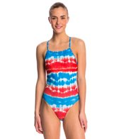 Speedo Water Supply Printed One Back One Piece Swimsuit