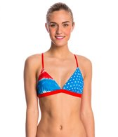 Speedo Gem Geo Printed Tie Back Triangle Top