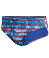Speedo Champs & Stripes Printed Brief Swimsuit