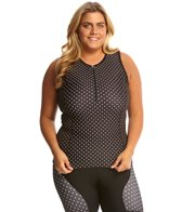 Shebeest Women's Zip Polka Mania Plus Tri Top