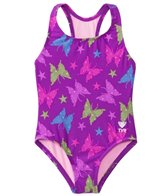 TYR Girls' Flutter Maxfit One Piece Swimsuit (2T-12yrs)