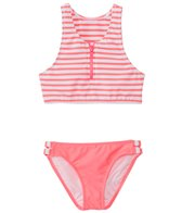 Seafolly Girls' Tropical Splice High Neck Tankini Two Piece Set (6yrs-16yrs)