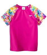 Speedo Girls' Printed Short Sleeve Rashguard (7yrs-16yrs)
