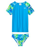 Speedo Girls' Tie Dye Splash Rashguard Two Piece Set (4yrs-6X)