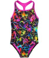 Speedo Girls' Neon Love Keyhole Thick Strap One Piece Swimsuit (4yrs-6X)