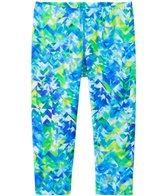 Speedo Girls' Printed Capri Swim Leggings (7yrs-16yrs)