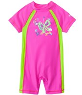 Speedo Girls' Short Sleeve Sun Suit UPF 50+ (12mos-3T)
