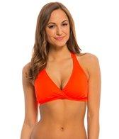 Oakley Women's Core Solids Racerback D-Cup Sports Bra Bikini Top