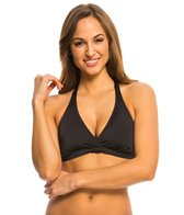 Oakley Women's Core Solids Racerback D-Cup Sports Bra Bikini Top