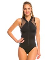 Oakley Women's Wildflowers Front Zip One Piece Swimsuit