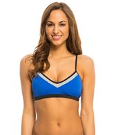 Oakley Women's Sun Blocked Crossback Sports Bra Bikini Top