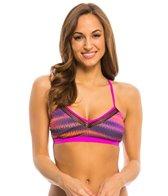 Oakley Women's Wavelength Crossback Sports Bra Bikini Top